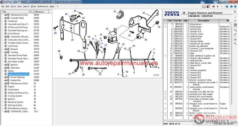 volvo penta aq125a schematic wiring harness connection
