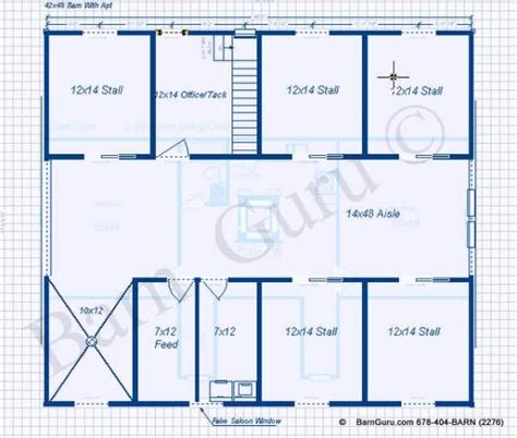barn apartments plans 5 stall horse barn with apartment plan great design for
