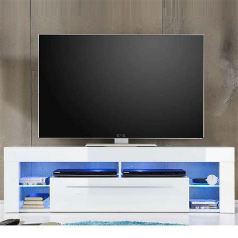 white tv stand with led lights sorrento lowboard tv stand in white high gloss with blue