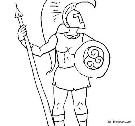 coloring page of trojan colored page trojan warrior painted by