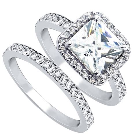 engagement rings for women women s cubic zirconia princess cut sterling silver