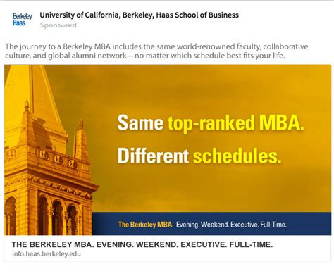 Berkeley Mba Tuition Part Time by Berkeley Haas An A Ha Moment For Higher Education Mortarblog