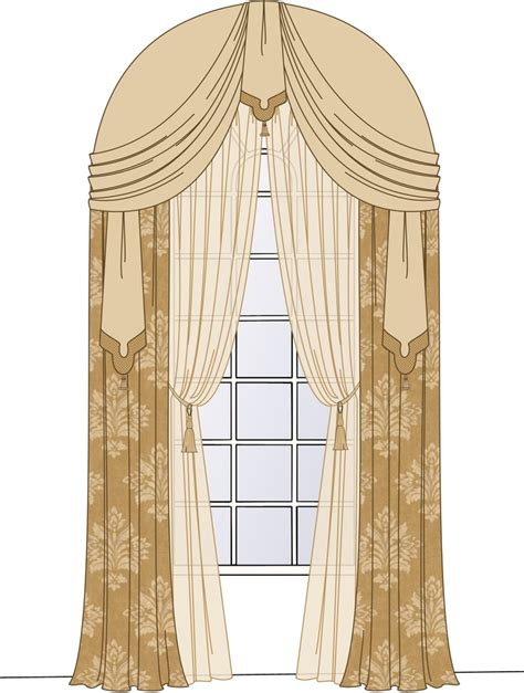 curtain designs for arches arch window window treatments pinterest