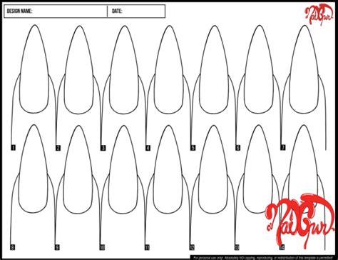 nail design template nail template inmoob