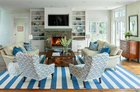 Coastal Interior Design by Maine House With Classic Coastal Interiors Home