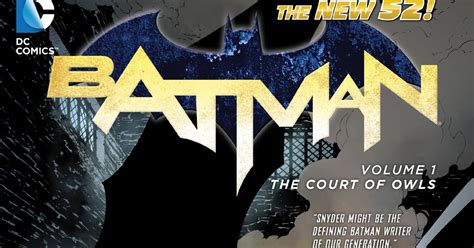 Komik Batman Vol 1 The Court Of Owls Paperback Dc Comics review batman vol 1 the court of owls hardcover paperback dc comics collected editions