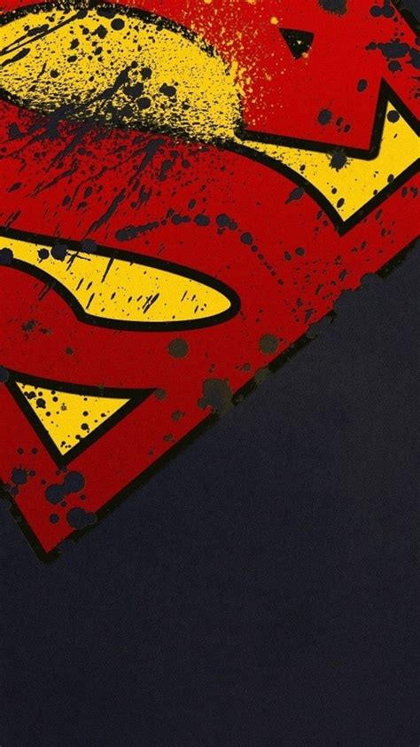 movies iphone   wallpapers superman logo minimal