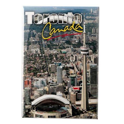 Souvenir Negara Canada Tempelan Magnet Tower Toronto canada souvenirs gifts toronto skyline photo magnet