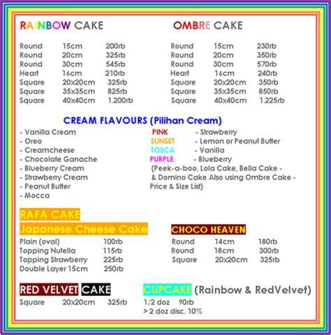 Price List Wedding Cake Jakarta by Biteme Rainbow Cake Jakarta Indonesia Price List Daftar Harga
