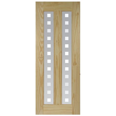 B Q Glass Doors Vertical 2 Panel Clear Pine Glazed Standard Door H 2040mm W 826mm Departments
