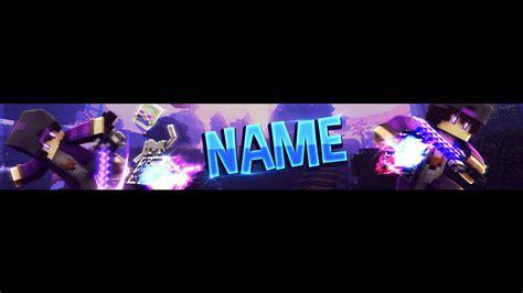Free Minecraft Youtube Banner Template Purple Minecraft Banner Template