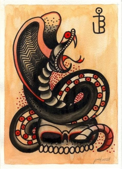 old school snake tattoo designs paz bunuel flash school cobra