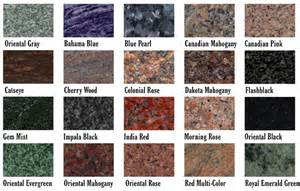 granite color names granite colors bbt