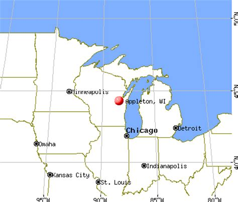 map of appleton wi appleton wisconsin wi profile population maps real