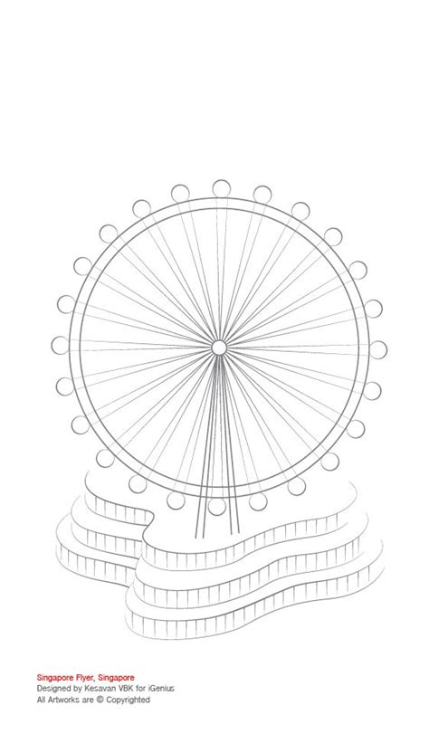 coloring in illustrator title singapore flyer singapore activity colouring