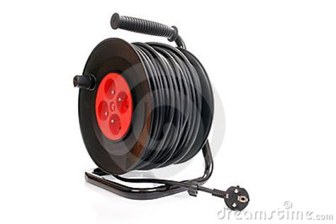 electrical extensions electrical cable extension reel royalty free stock image