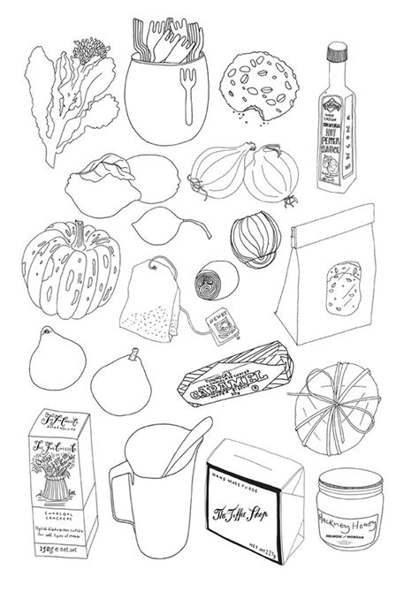 food doodle pens by chakrabarti illustration pilot