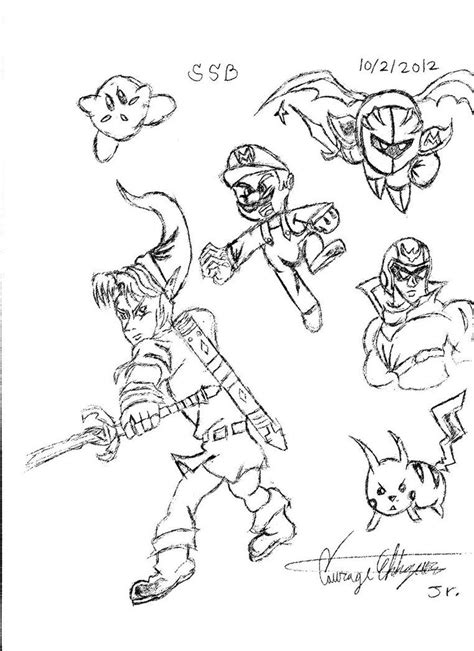 Bros Brawl Coloring Pages samus smash bros coloring pages coloring home