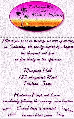 luau wedding invitations wording luau wedding reception invitations archives the wedding specialists