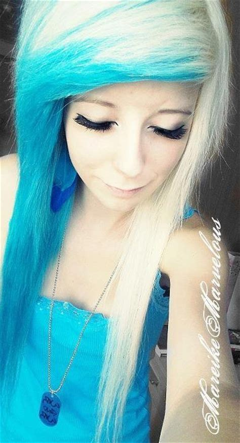 emo hairstyles blue and blonde 63 best scene emo hair images on pinterest emo scene