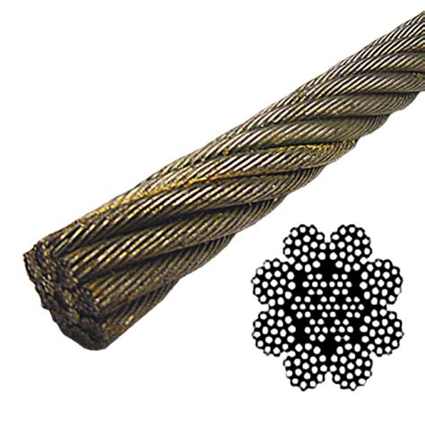 3 8 wire rope strength 3 4 quot spin resistant wire rope eips 8x19 class lf