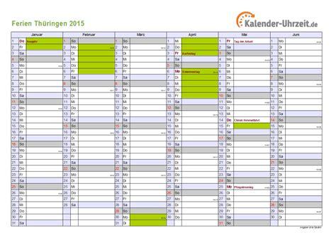 Kalender 2015 Din A4 Ferien Th 252 Ringen 2015 Ferienkalender Zum Ausdrucken
