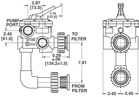 pool filter valve diagram system 3 de filters sd series pool and spa filters pentair