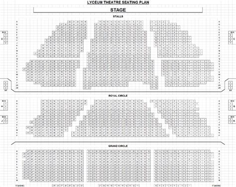 lyceum theatre floor plan lyceum seating plan brokeasshome com