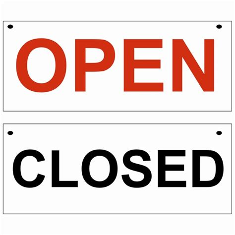 open closed sign template open closed small sign polar displays and print