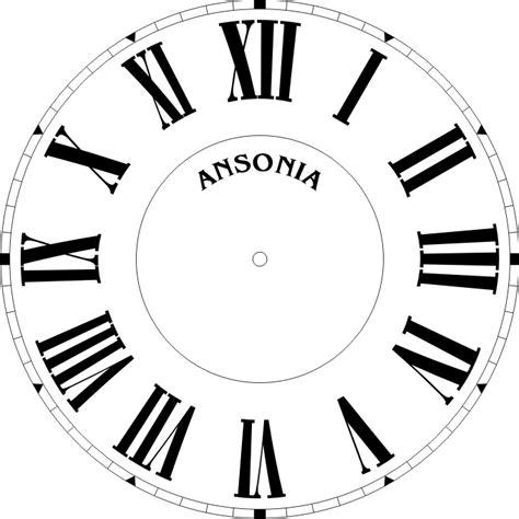 clock template corel roman numeral clock face template clipart best