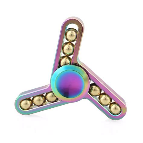 Twisted Rainbow Spinner Premium Quality gex premium rainbow shaker fidget spinner gx047