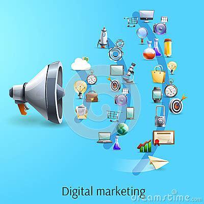 digital marketing concept flat banner stock vector image