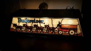 Vintage Budweiser Pool Table Light by Vintage And Budweiser Clydesdale Stained Glass Pool