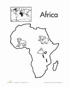 Color the continents africa worksheet education com