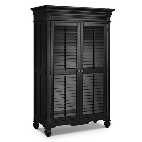 Signature Wardrobe by Plantation Cove Black Furniture Armoire Value City