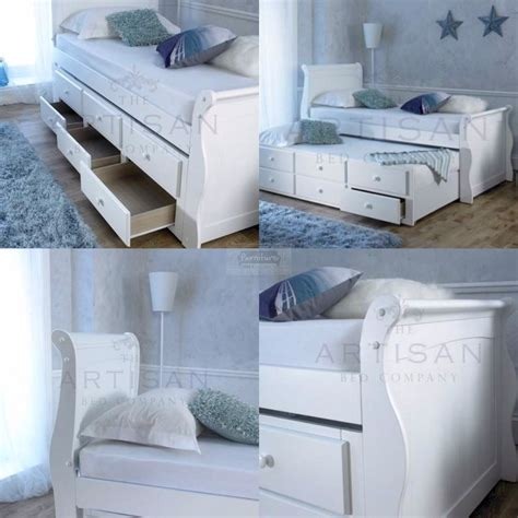 captain trundle bed white captain bed guest trundle bed inc 3 drawers