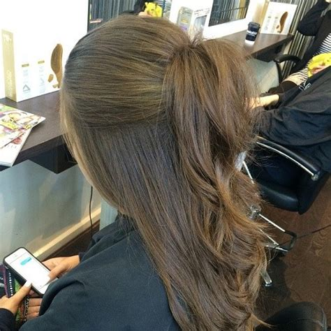 hair styles in two ponies 40 easy and chic half ponytails for straight wavy and