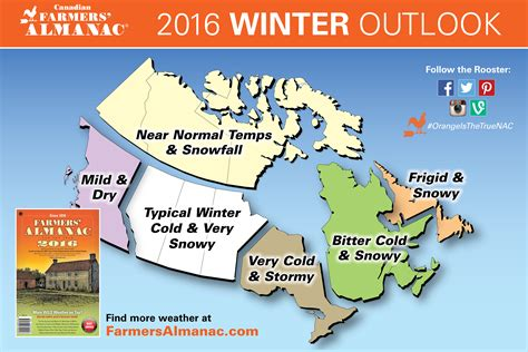 weather map of us and canada 2016 winter weather prediction farmers almanac canada