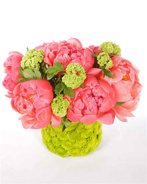 peony arrangement spring flower arrangements martha stewart