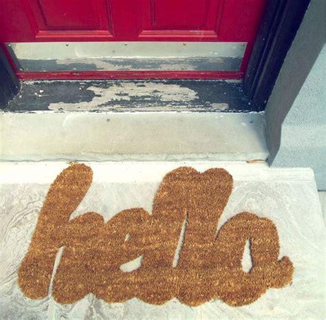 Fancy Front Door Mats Fancy Hello Door Mat