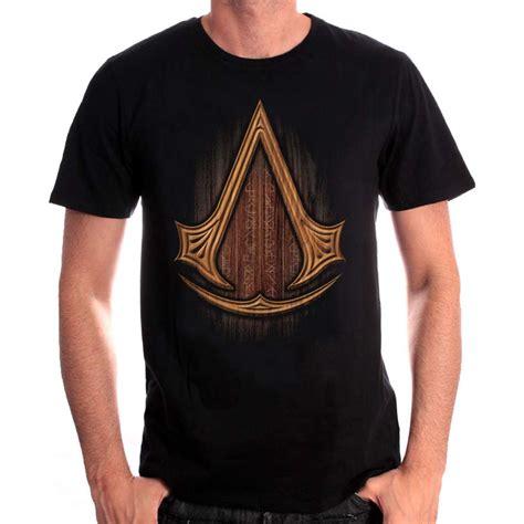 tshirt assassin s creed insignia wood