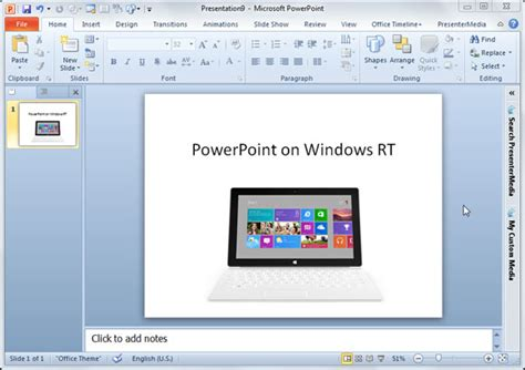 Ms Office With Powerpoint For Windows Rt Microsoft Powerpoint Templates For Windows 7 Free