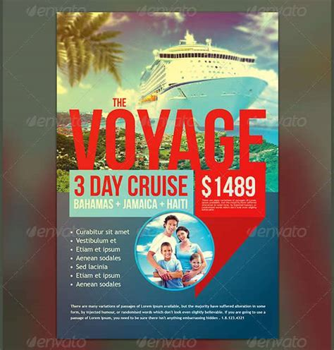 10 Cruise Flyers Printable Psd Ai Vector Eps Format Download Design Trends Premium Psd Free Cruise Ship Flyer Template