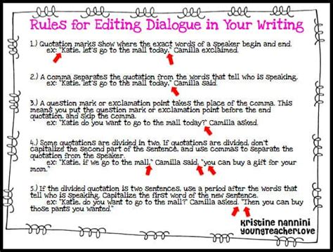 how to write a conversation in a paper writing dialogue part 2 comics and a freebie
