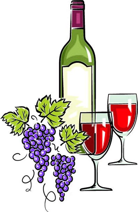 cartoon wine glass wine bottle and glass clip art library