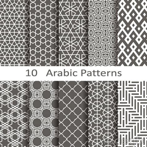 islamic pattern photoshop brushes 10 black arabic patterns vector background паттерн