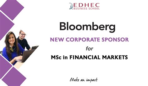 Mba Sponsorship Taxes by Bloomberg L P Becomes Corporate Sponsor Of The Edhec Msc