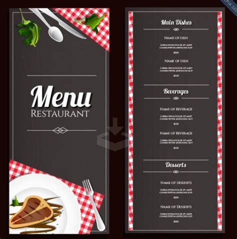 menu for restaurant template best menu templates for restaurant templates vip