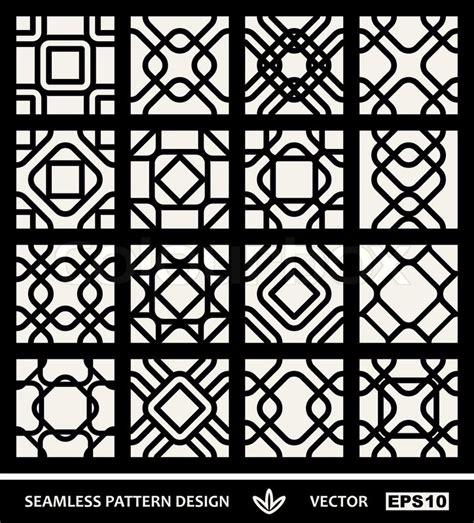 modern islamic pattern vector abstract modern backgrounds set geometric seamless