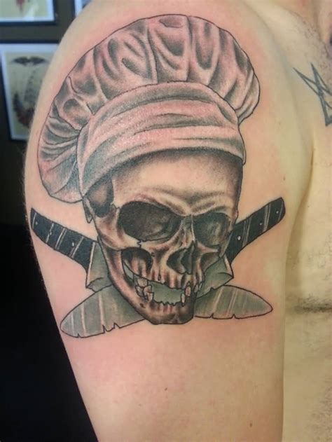 skull with hat tattoo designs 51 chef hat tattoos